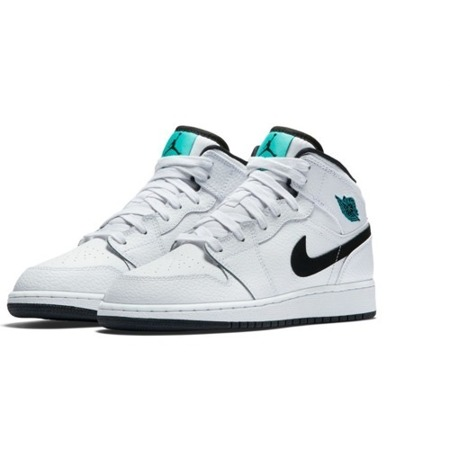 Air Jordan 1 Mid GS Hyper Jade Shoes - 554725-122