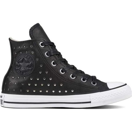 Converse CHUCK TAYLOR ALL STAR LEATHER BLACK BLACK SILVER
