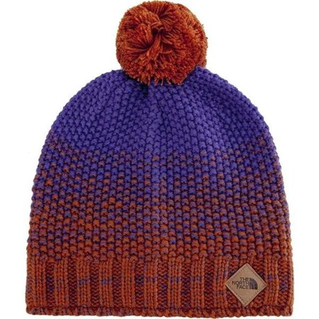 The North Face ANTLERS BEANIE GINGERBREAD BROWN DEEP BLUE