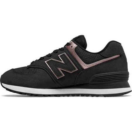 Women's Shoes Sneakers New Balance WL574NBK BLACK WITH CHAMPAGNE METALLIC