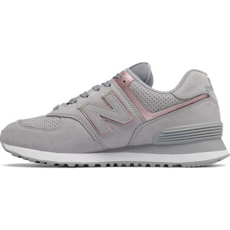 Women's Shoes Sneakers New Balance WL574NBN ARCTIC SKY WITH CHAMPAGNE METALLIC