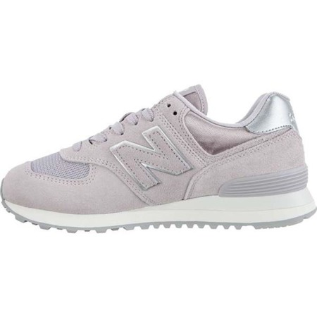 Buty New Balance Damskie WL574LCS SATEEN TAB LIGHT CASHMERE WITH METALLIC SILVER