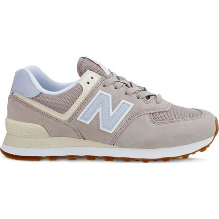 New Balance WL574FLC SUMMER DUSK FLAT WHITE WITH ICE BLUE - Buty Damskie Sneakersy